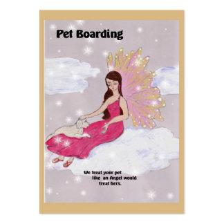 Tarjeta de visita del embarque del mascota