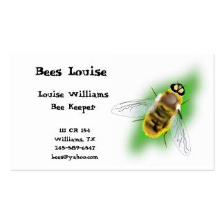 Tarjeta de visita del encargado de la abeja
