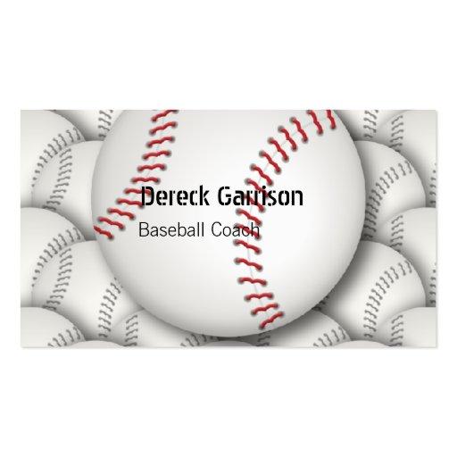 Tarjeta de visita del entrenador de béisbol