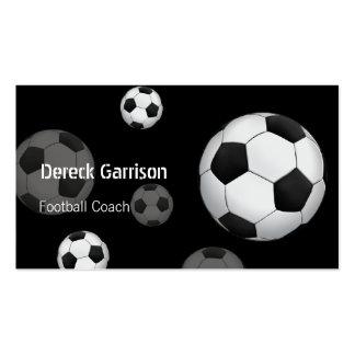 Tarjeta de visita del entrenador de fútbol