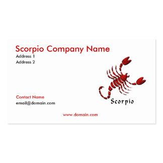 Tarjeta de visita del escorpión