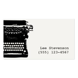 Tarjeta de visita del escritor