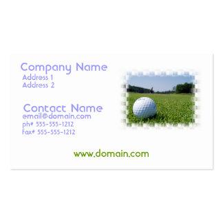 Tarjeta de visita del espacio abierto del golf