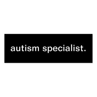 Tarjeta de visita del especialista del autismo