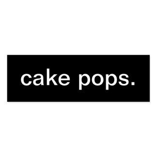 Tarjeta de visita del estallido de la torta
