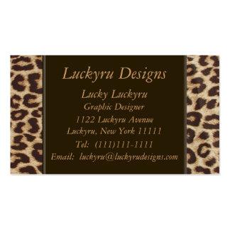 Tarjeta de visita del estampado leopardo