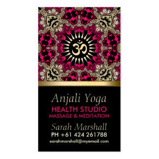 Tarjeta de visita del este de la edad de la yoga d