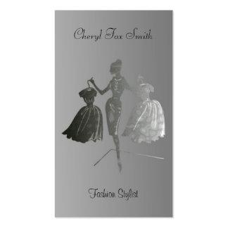 Tarjeta de visita del estilista de la moda