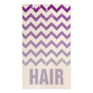 Tarjeta de visita del estilista - Ombre púrpura