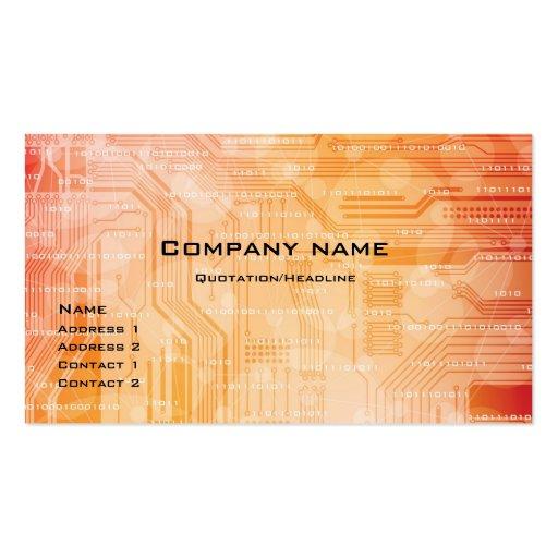 tarjeta de visita del estilo de la tecnología