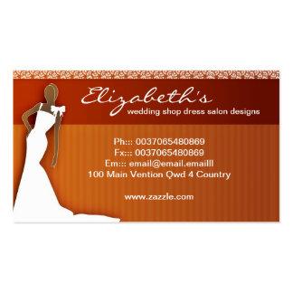 tarjeta de visita del estilo del boda del vestido