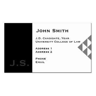 Tarjeta de visita del estudiante de Derecho 3