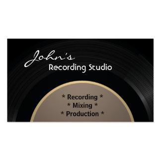 Tarjeta de visita del estudio de grabación del vin