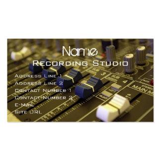 Tarjeta de visita del estudio de grabación