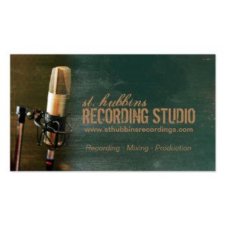 Tarjeta de visita del estudio de la música del mic
