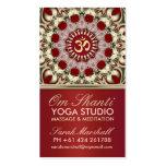 Tarjeta de visita del estudio de la yoga de OM Sha