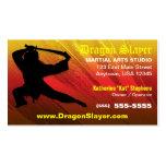 Tarjeta de visita del estudio de los artes marcial