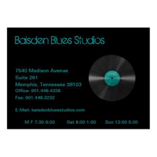 Tarjeta de visita del estudio de los azules de Bai