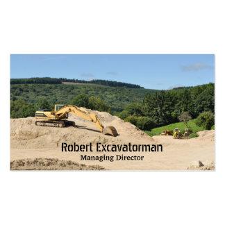 Tarjeta de visita del excavador