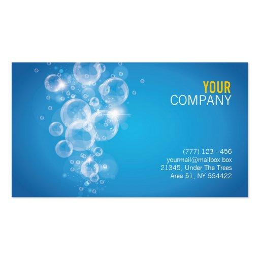 tarjeta de visita del éxito del agua potable