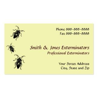 Tarjeta de visita del Exterminator