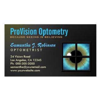 Tarjeta de visita del Eyecare del optometrista