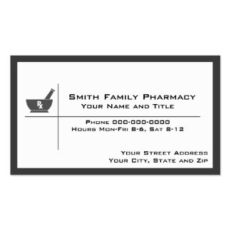 Tarjeta de visita del farmacéutico