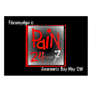 Tarjeta de visita del Fibromyalgia - día de la con