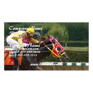 Tarjeta de visita del final de la carrera de cabal