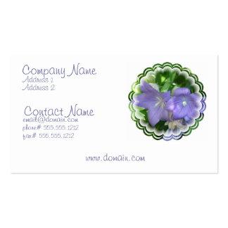 Tarjeta de visita del flor de la flor del impulso