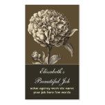 tarjeta de visita del flor de la flor del vintage