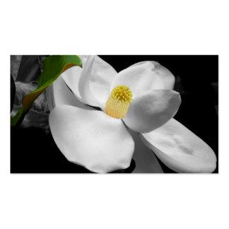 Tarjeta de visita del flor de la magnolia