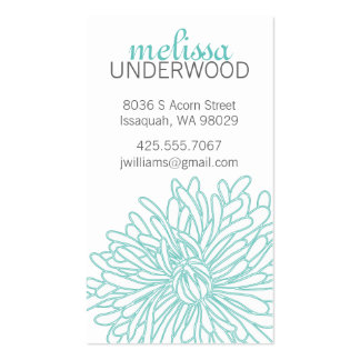 Tarjeta de visita del flor del crisantemo