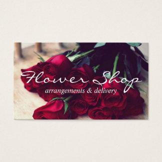 Tarjeta de visita del florista de la entrega de la
