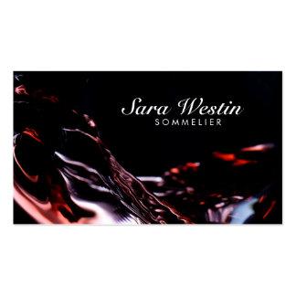 Tarjeta de visita del flujo del vino de la