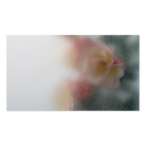 tarjeta de visita del fondo de los rosas
