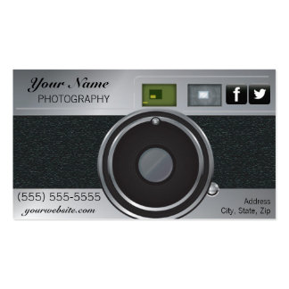 Tarjeta de visita del fotógrafo de la cámara del v