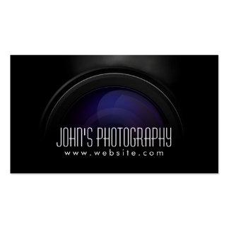 Tarjeta de visita del fotógrafo de la lente de cám