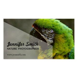 Tarjeta de visita del fotógrafo de la naturaleza