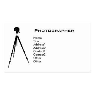 Tarjeta de visita del fotógrafo