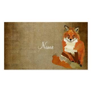 Tarjeta de visita del Fox rojo del vintage