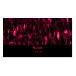 Tarjeta de visita del fractal de la lava, rosada