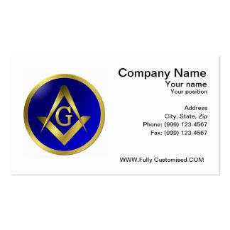 Tarjeta de visita del Freemason