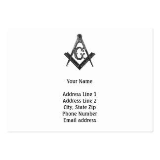 Tarjeta de visita del Freemason del viejo estilo