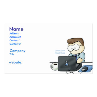 tarjeta de visita del friki del ordenador