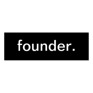 Tarjeta de visita del fundador