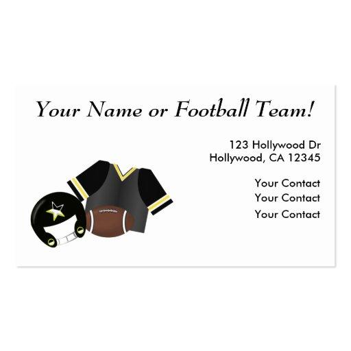 Tarjeta de visita del fútbol