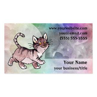 Tarjeta de visita del gato de Tabby de Brown - arc