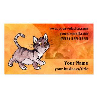 Tarjeta de visita del gato de Tabby de Brown - nar