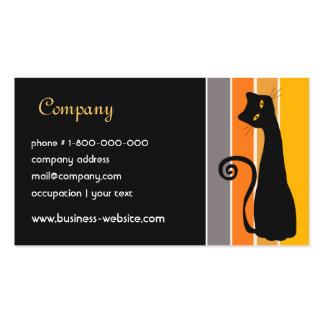 Tarjeta de visita del gato negro